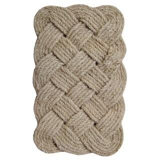 Lovers Knot Coir Fiber 30-inch x 18-inch Doormat