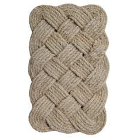 Lovers Knot Coir Fiber 30-inch x 18-inch Doormat - 30 inches x 18 inches