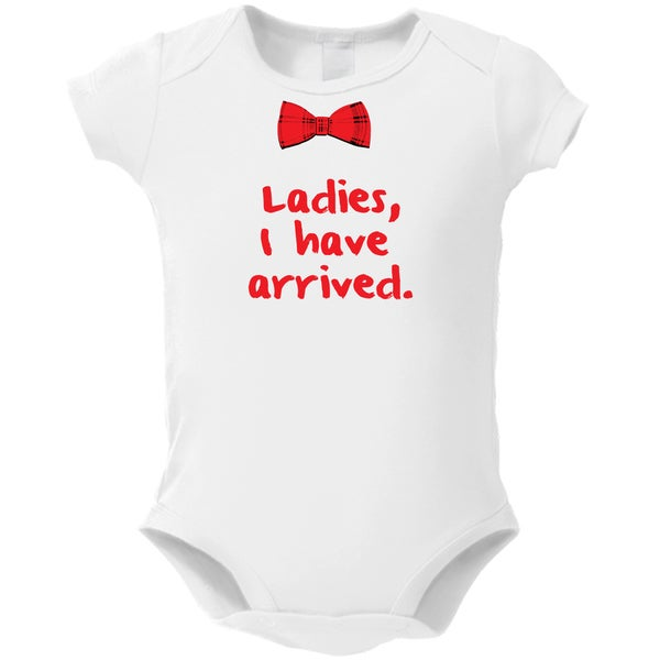 ec70ef16f Shop Ladies I Have Arrived' White Baby Bodysuit One-piece - Free Shipping  On Orders Over $45 - Overstock - 13766931