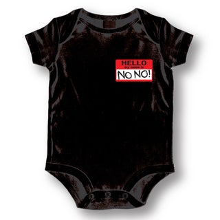 Babies' Black 'Hello My Name Is No No' Bodysuit One-piece