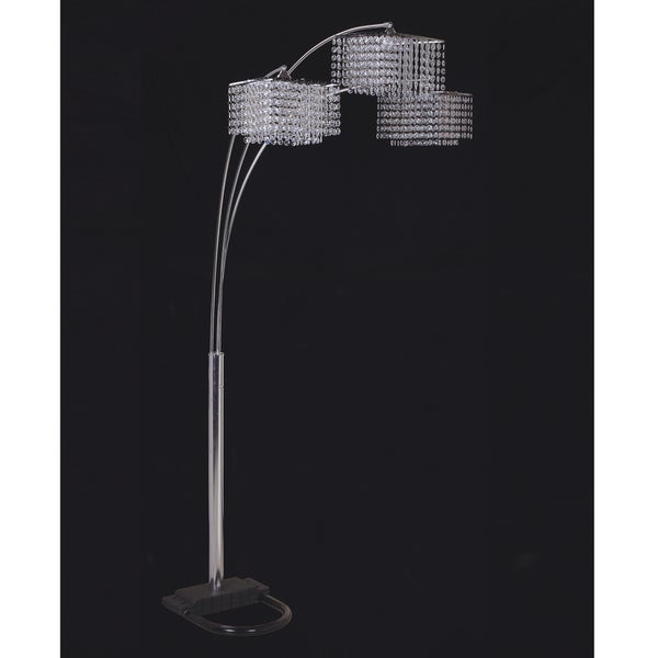 Furniture of America Cherise Traditional 3-way Arch Floor Lamp