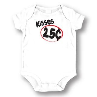 Babies' White 'Kisses 25 Cents' Bodysuit Onesie