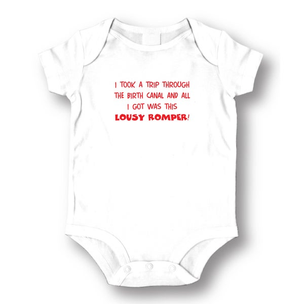 Lousy Romper' Infants' White Cotton Bodysuit One-piece