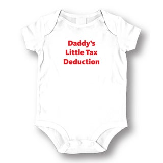 Tax Deduction White Cotton Baby Bodysuit One-piece