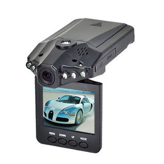 Xtreme Black HD Car Dashboard Camera with Flip Down LCD Screen