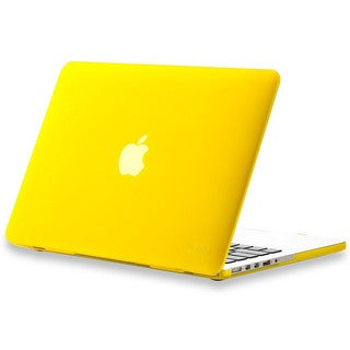 Yellow Rubberized Polycarbonate Scratch-resistant Hard Case for 13-inch Apple MacBook Pro