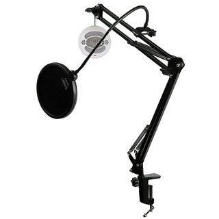 Blue Microphones SNOWBALL-TW Mic w Knox Mic Desktop Boom Arm & Pop Filter
