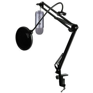 Blue Microphones Yeti Space Grey Mic w/ Knox Mic Desktop Boom Arm and Pop Filter
