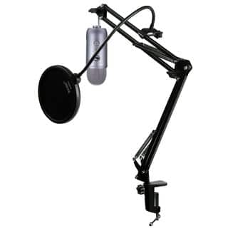 Blue Microphones Yeti Space Grey Mic w/ Knox Mic Desktop Boom Arm and Pop Filter|https://ak1.ostkcdn.com/images/products/13767187/P20421104.jpg?impolicy=medium