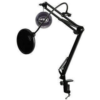 Blue Microphones SNOWBALL-GB Mic w Knox Mic Desktop Boom Arm & Pop Filter (Black)