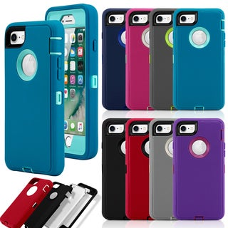 Gearonic PC Silicone Shockproof Protective Hybrid Hard Case Cover for iPhone 7