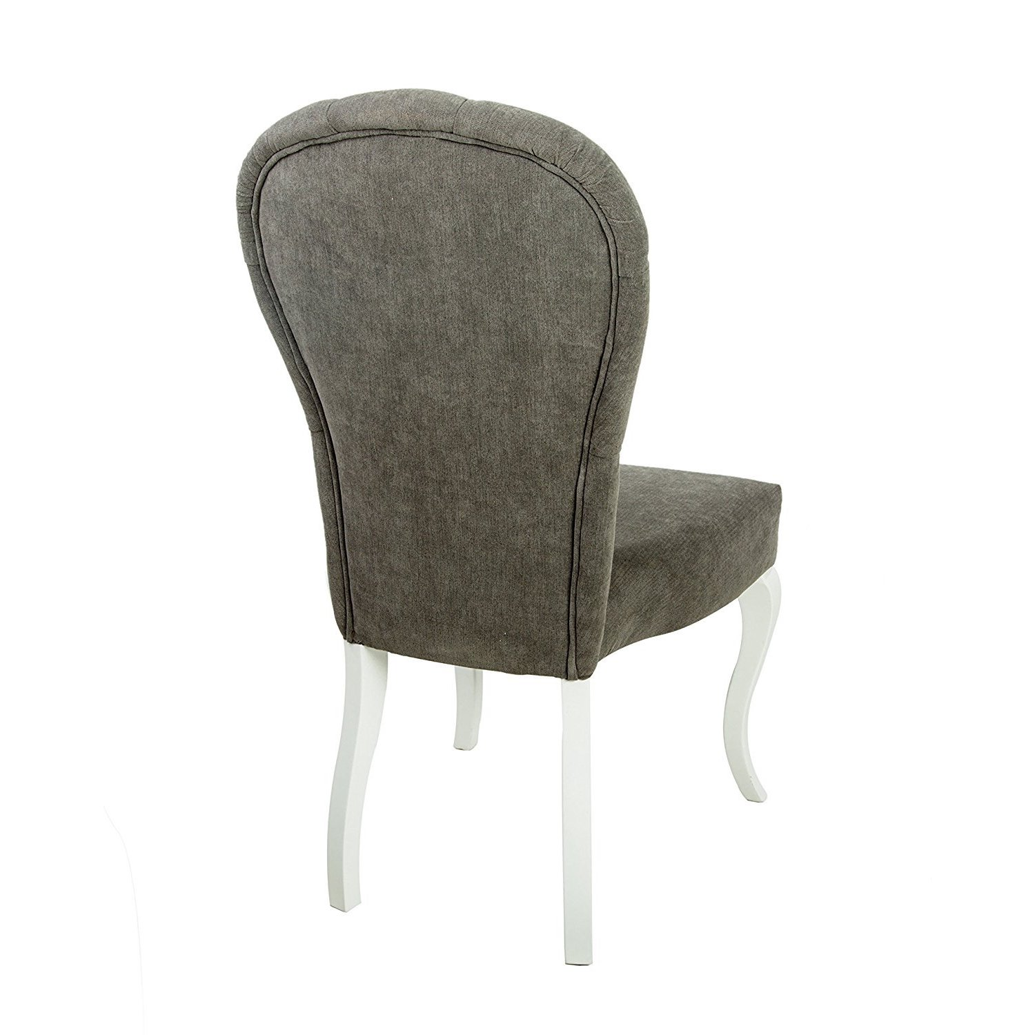 Decor Zone Number One Tufted Upholstered White Lacquer Legs Dining Chair Set Of 2 Overstock 13767201