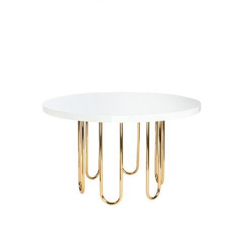 Statements By J Willow Gold Dining Table, 30.5 Inch Tall