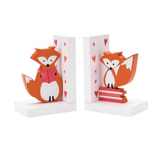 Reed & Barton Hazelnut Hollow Fox Bookends