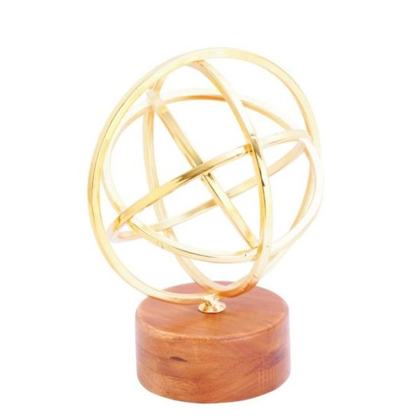Carson Carrington Give Benzara Metal, Wood, Glass 7-inch x 9-inch Sculpture