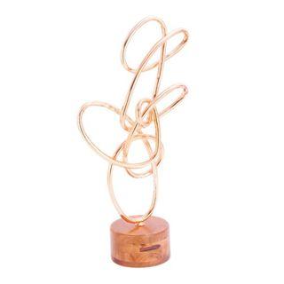 Benzara Metal/Wood/Copper Sculpture