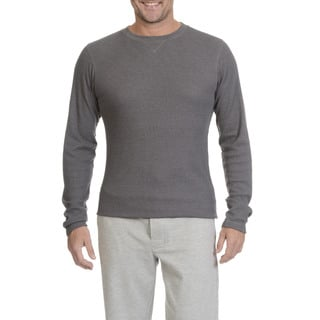 Hanes Men's Sueded Long-sleeve Waffle-knit Top