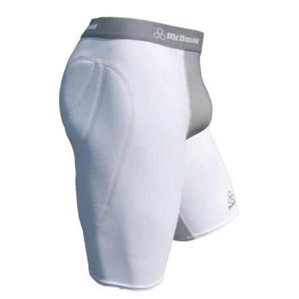 McDavid Classic 7212 Youth White and Grey Vented Sliding Short