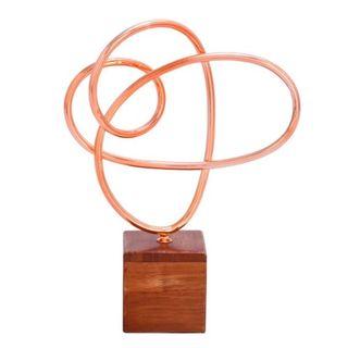 Metal Wood Copper Sculpture