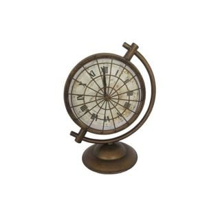 Benzara Bronze Metal 6-inches Wide x 12-inches High Table Clock