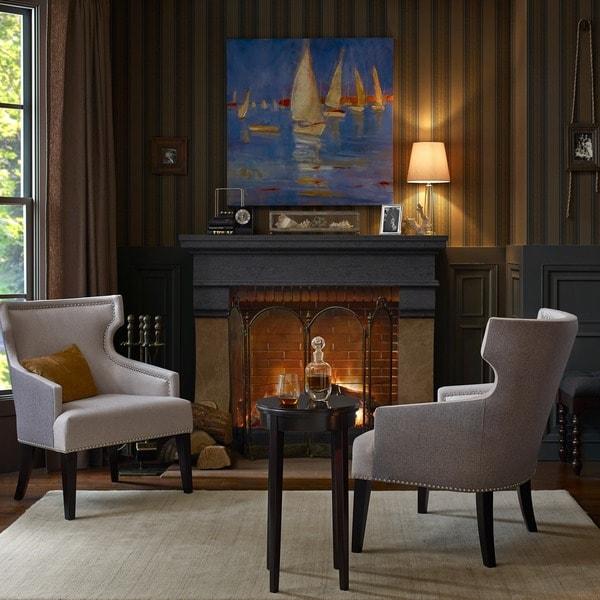 Madison Park Signature Everett Cream/ Black Accent Chair