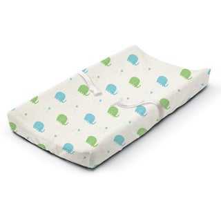 Summer Infant Elephant March Multicolored Microplush Changing Pad Cover