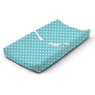 Summer Infant Blue Dots for Days Aqua Velboa Ultra Plush Changing Pad Cover