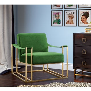 Baxter Green Velvet Chair