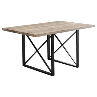Dark Taupe and Dark Metal 36-inch x 60-inch Dining Table