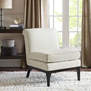 Madison Park Signature Camelle Ivory Multi/ Black Noir Armless Accent Chair