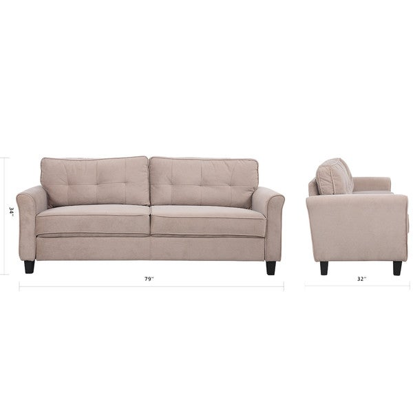 Classic Ultra Comfortable Linen Fabric Living Room Sofa Free Shipping Today Overstock 20421790