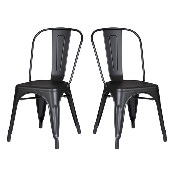 Metal Kitchen Chairs: Shop Black Metal Industrial Farmhouse Dining Kitchen Chair
