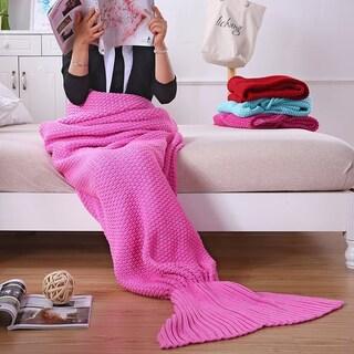 Clay Alder Home Burnside Adult Knit Mermaid Tail Blanket