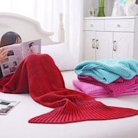 Taylor & Olive Watson Adult Knit Mermaid Tail Blanket