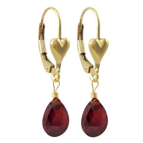 Luxiro Gold Filled Cubic Zirconia Children's Heart Earrings