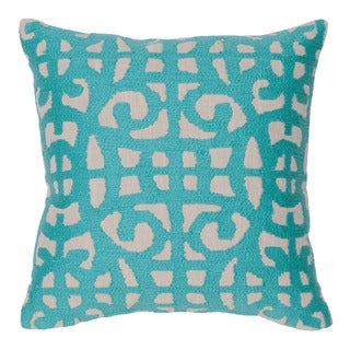 Kosas Home Barrett Teal Down and Feather 20-inch Square Throw Pillow