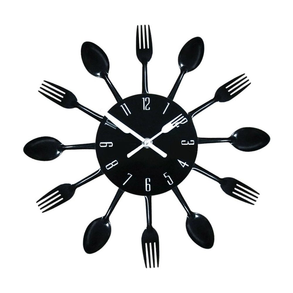Contemporary Kitchen Wall Clock Knife Fork Spoon Clock (B...