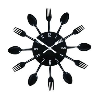 Kitchen Wall Clock 3D Knife Fork Spoon Clock