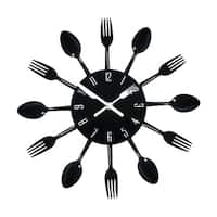 Contemporary Kitchen Wall Clock Knife  Fork  Spoon Clock