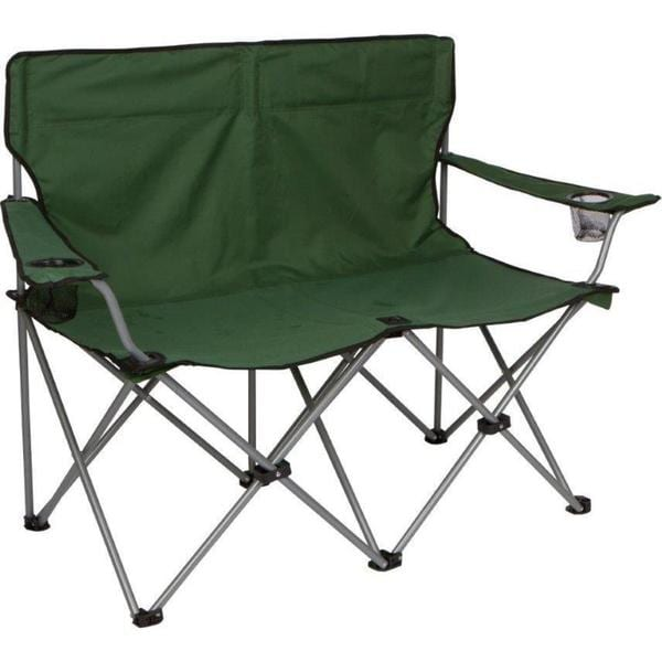 Trademark Innovations Loveseat-style Double C& Chair with Steel Frame  sc 1 st  Overstock.com & Shop Trademark Innovations Loveseat-style Double Camp Chair with ...