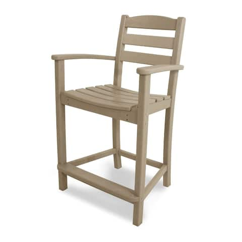 POLYWOOD® La Casa Cafe Counter-Height Arm Chair