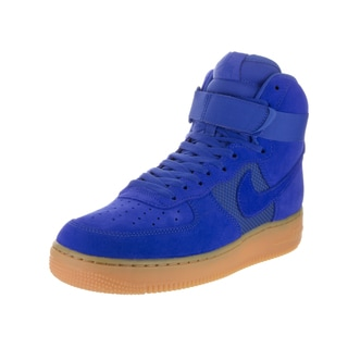 Nike Men's Air Force 1 High '07 Lv8 Hyper Cobalt Suede Basketball Shoes