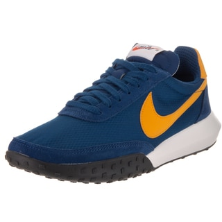 Nike Men's Roshe Waffle Racer NM Coast Blue and Gold Leaf Suede Training Shoes