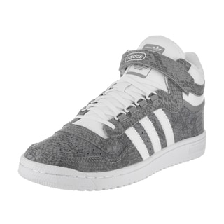 Adidas Men's Concord II Mid Originals Grey Leather Basketball Shoes