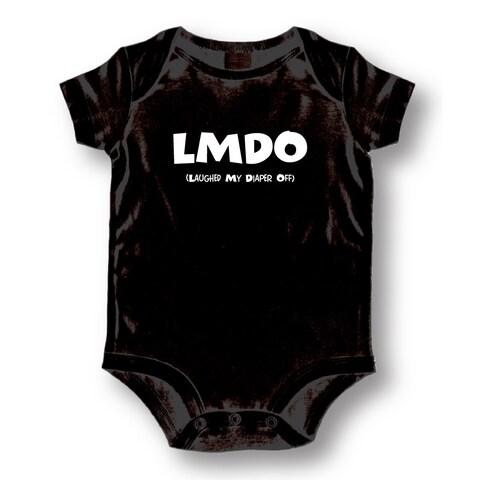 LMDO Laughed My Diaper Off' Infants' Black Cotton Bodysuit One-piece