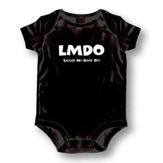 LMDO Laughed My Diaper Off' Infants' Black Cotton Bodysuit One-piece|https://ak1.ostkcdn.com/images/products/13768216/P20421966.jpg?impolicy=medium