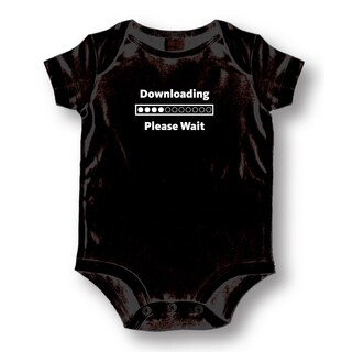 Downloading Black Cotton Baby Bodysuit Onesie
