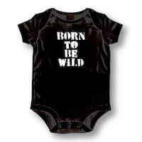 Born to Be Wild' Infants' Black Cotton Bodysuit One-piece