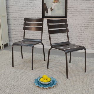 Rohan Stacking Metal Chairs (Set of 2)