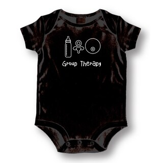 Babies' Black 'Group Therapy' Bodysuit One-piece